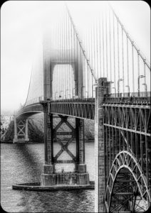 Steve Kessler - Golden Gate in the Fog - 1st Place - B BW